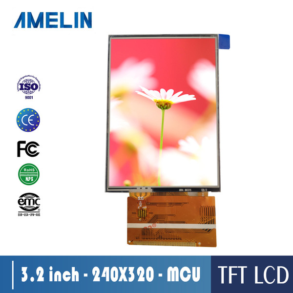 3.2-inch TFT TN 240*320 Resolution Brightness 300 MCU Interface Resistance Touch LCD Display