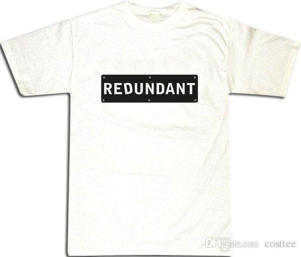 Redundant Black Design Cool Men's T-SHIRT ALL SIZES # White
