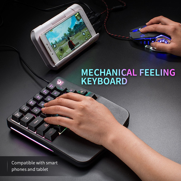 Wired Gaming Keypad With LED Backlight 28 Keys One Handed Membrane Keyboard  Mini Keyboard With Large Wrist Pad Wireless Keyboard For Laptop Wireless