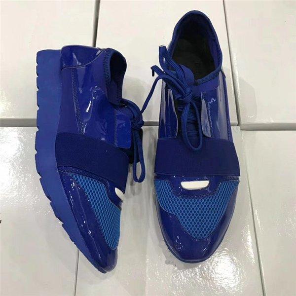 Leather toe/blue