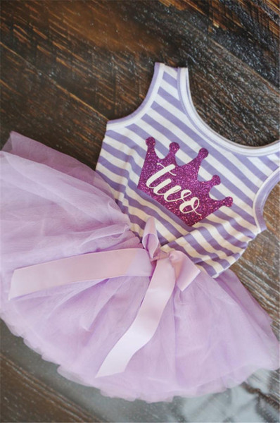 Baby Kid Girl One Piece Dress Striped Bow Summer 2016 Tutu Dress Cute Vest Girls Clothes Little Princess Dress For Infant 0-2Y