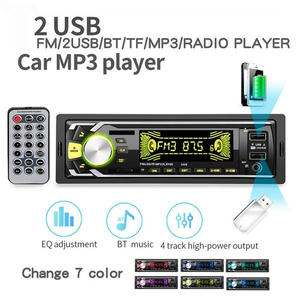 2019 New products Bluetooth Autoradio Car Stereo Radio FM Aux Input Receiver SD USB 12V In-dash 1 din Car MP3 Multimedia Player