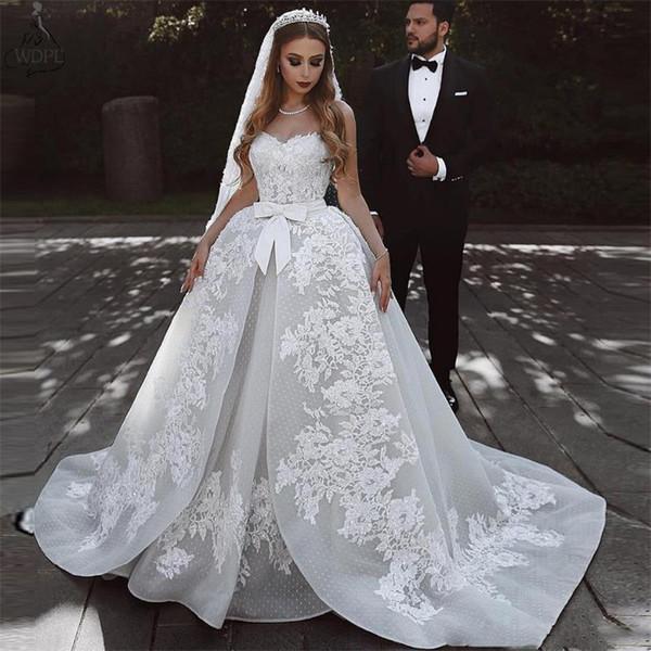 2019 moderno vestido de noiva africano lace applique sash querida mangas sweep train custom made plus size vestidos de noiva formais