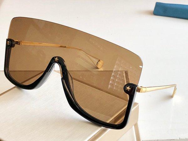 black gold brown lens