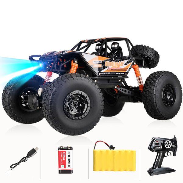 véhicule hors route voiture télécommandée jouets pour enfants lutte surdimensionné électrique modèle de course à quatre roues motrices garçon cadeau 01:10