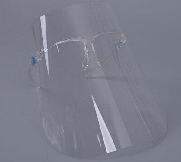 maschere chiare con occhiali