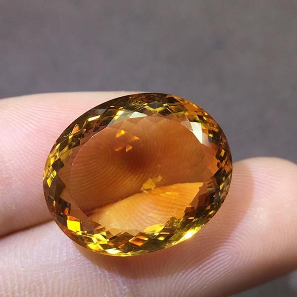 Citrine Gemstone 100% Natural Citrine Brazil Origin Faced Loose Gemstones 19.39ct Loose Stones for Jewelry Making