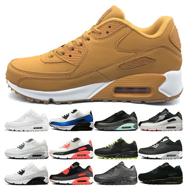 nike air max 90 Erkek Kadın Sarı Sneakers Ayakkabı klasik erkekler Koşu Ayakkabıları Üçlü Siyah Kırmızı Mavi Beyaz Spor Eğitmeni Kadınlar Koşu Yürüyüş Spor ayakkabı