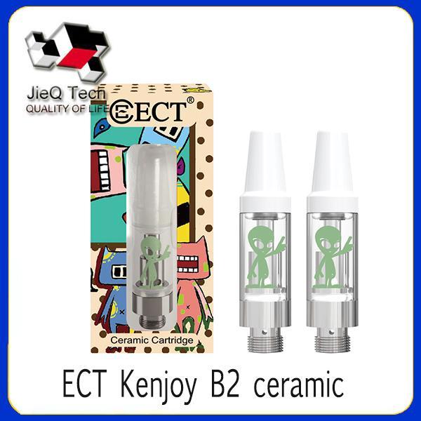Autentico ECT Kenjoy B2 cartucce di vaporizzatore in ceramica e vaporizzatore di sigarette con display box Alien per olio denso