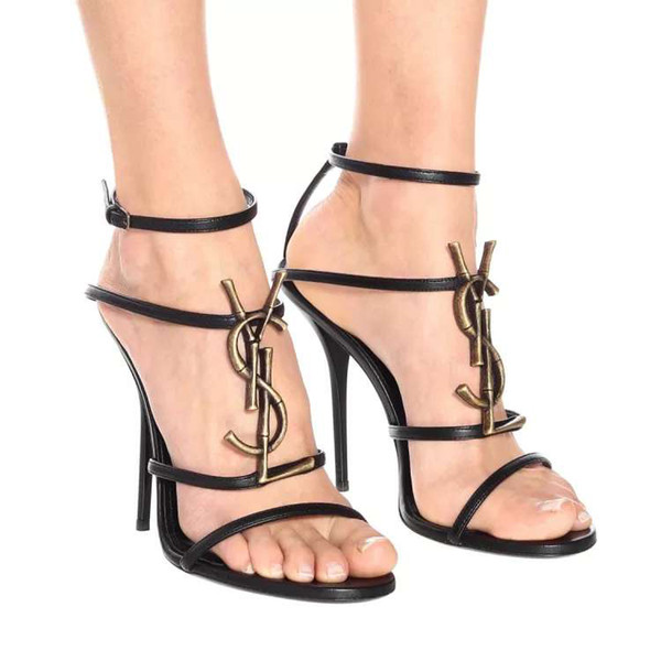 1ad0800b989 2019 Brand new Sexy shoes Woman Summer Buckle Strap bamboo joint Sandals  ysl High-heeled