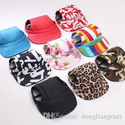 highquality factoryprice Pet Dog Canvas Hat Sports Baseball Cap with Ear Holes Summer Outdoor Hiking for Small Dogs Size S M Pet Supply p98