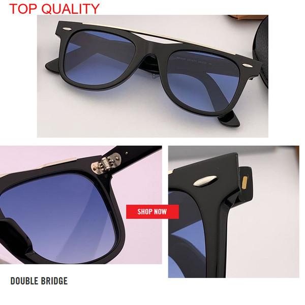 2019 all'ingrosso designer di marca uomo donna classico piatto da guida quadrato occhiali da sole sfumato uv 400 HD obiettivo rd4540 gafas con scatola custodia.