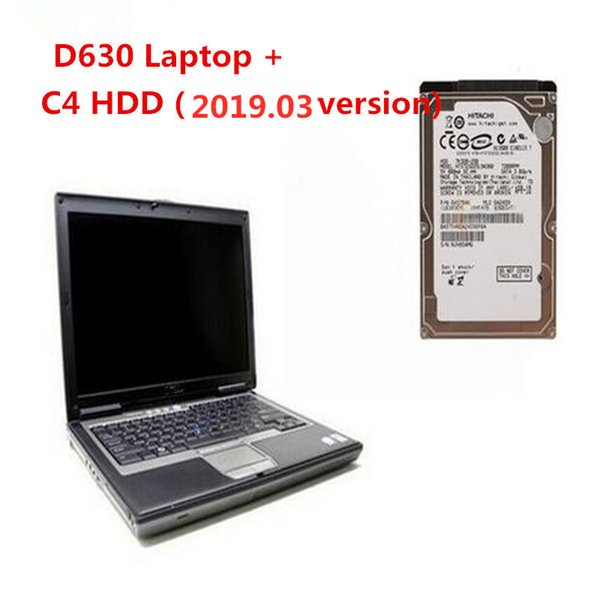 Professional 2019.03 newly version MB Star C4 Software HDD Win7 320G SD Connect C4 Tool with LAPTOP D630 High Quality