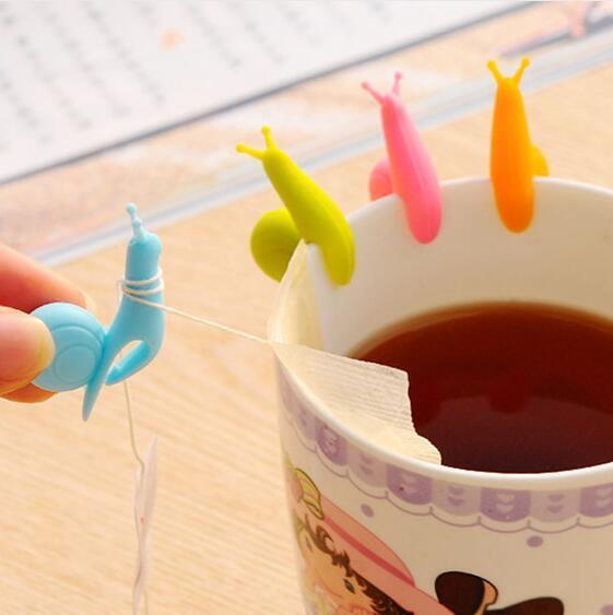 Kochen Werkzeuge Kleine Schnecke Recognizer Gerät Tee-ei Tee Tasse Hängen Beutel Farbe Nach Dem Zufall GA642
