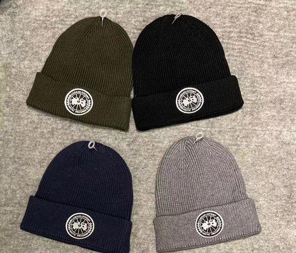 500 nouvelles marques d'hiver femmes Bonnets hommes chaud de laine tricotée Chapeaux Mode Casquettes Skullies Hat broderie Cap marque Bonnet