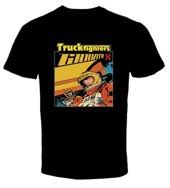 TRUCKFIGHTERS Band-Gravity X 1 Новая футболка мужская мода с коротким рукавом дешевые продажа o шеи футболка Бесплатная доставка