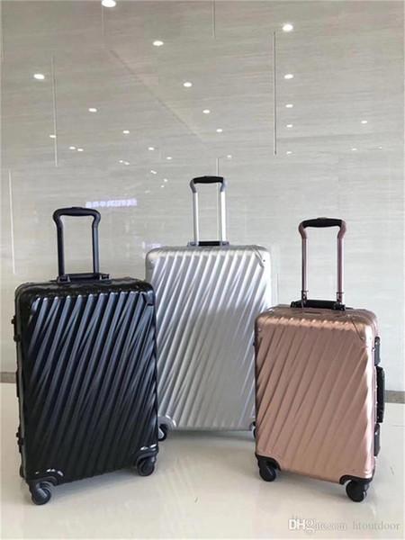 20 24 29 pollici dal design di lusso Borsa di 19 gradi in alluminio Internazionale Carry-su Rolling bagagli Trolley Valigia Viaggi