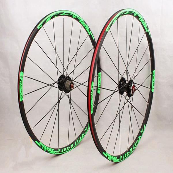 MEROCA 26inch mountain bike bicycle front 2 rear 5 bearing hub super smooth flat spokes wheel wheelset 27.5inch Rim