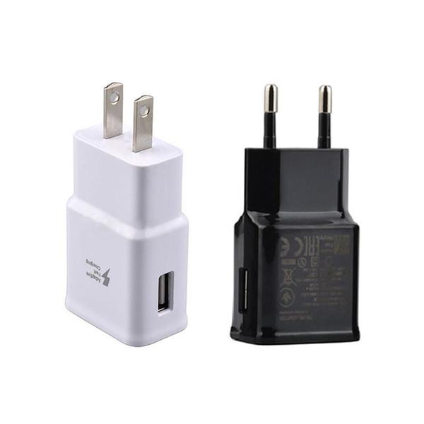 Alta calidad 5V 2A AU EE. UU. UE AC Power cargador de pared para Samsung Galaxy Note2 3 4 N7100 S5 S4 S6 S7