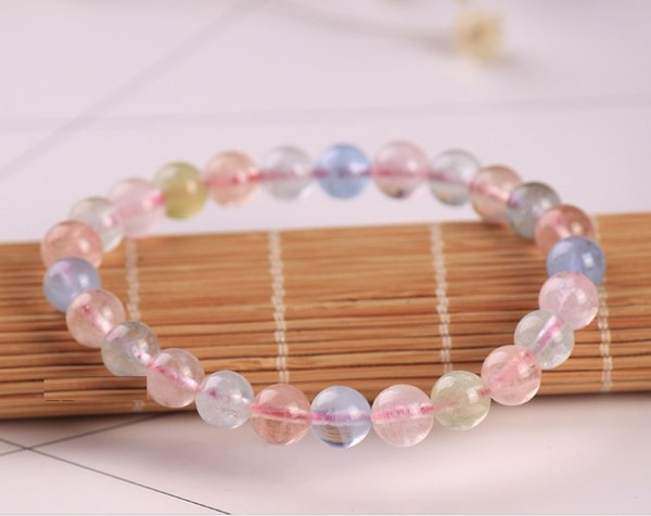 Candy Morganite Natural Crystal Morganite Sweet Romantic Fashion Fresh and Bright Best Gift To Good Friend Free Shipping
