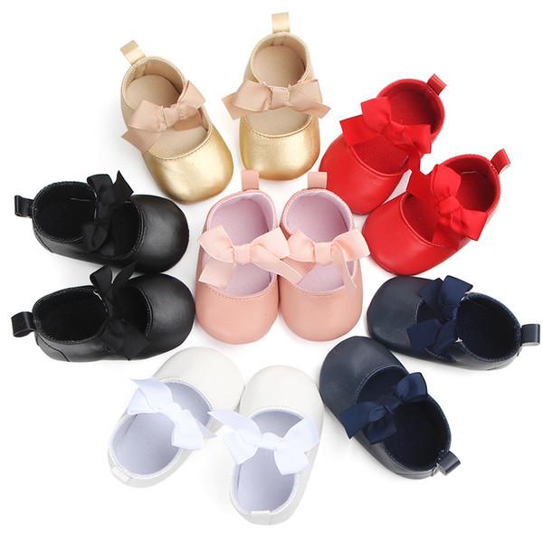 İlkbahar, Yaz ve Sonbahar Bebek kız ayakkabı PU Deri; yumuşak tabanı kaymaz bebek ayakkabıları, ilk yürüyüşe bebeğin favori.