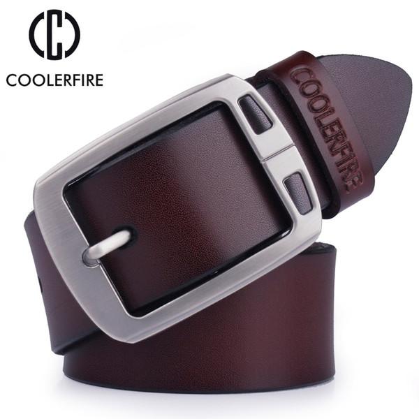 Genuine Leather Belts For Men Cowboy Luxury Strap Brand Male Vintage Fancy Jeans Designer Belt Men High Quality