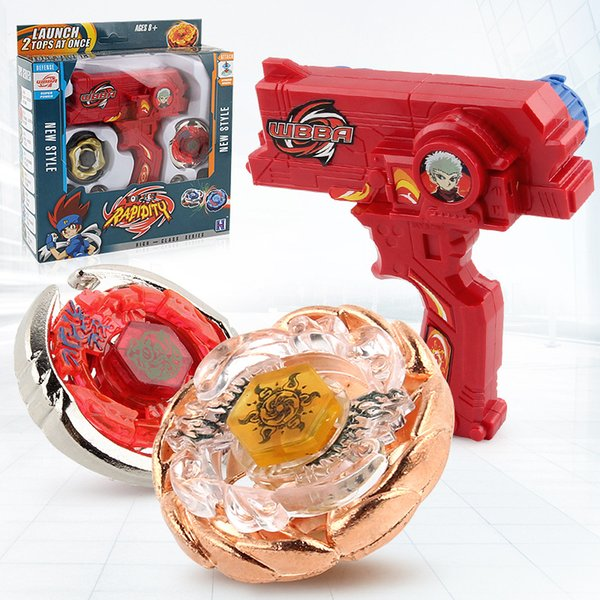 top popular Beyblade Metal Fusion Toys For Sale Beyblades Spinning Tops Toy Set Beyblade Toy with Dual Launchers Hand Spinner Metal Tops 2019