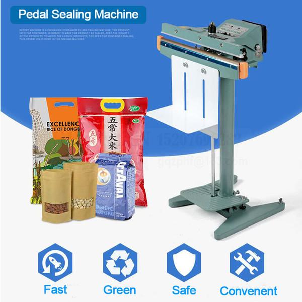 best selling Foot Pedal Impulse Sealer heat sealing machine Plastic Bag sealer DUAL TOP-BOTTOM HEAT 450mm PEDAL 350 450 650 800mm