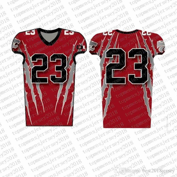 Top Custom Football Jerseys Mens Embroidery Logos Jersey Free Shipping Cheap wholesale Any name any number Size S-XXXLhhlsa