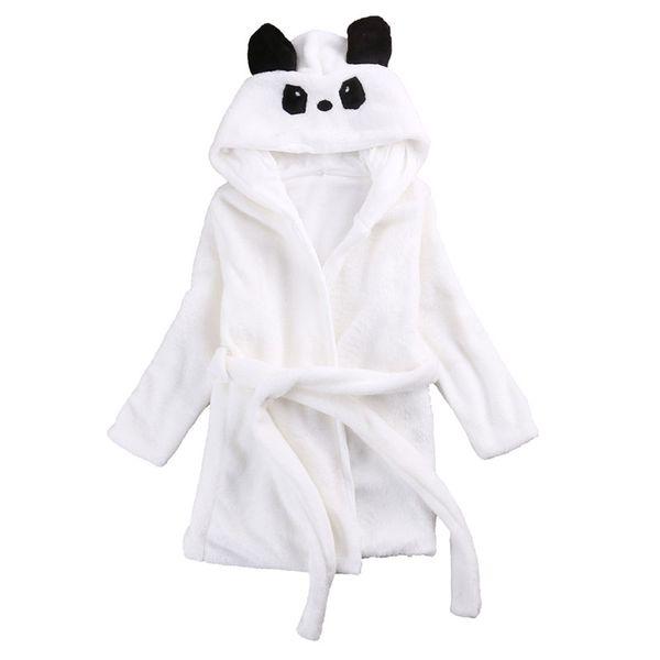 Cute Cartoon Baby Kids Boys Girls Robes Hooded Bathrobe Toddler Boy Girl Sleepwear Long Sleeve Children Clothing