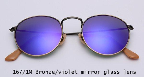 167 / 1M bronze / violett verspiegelte Linse