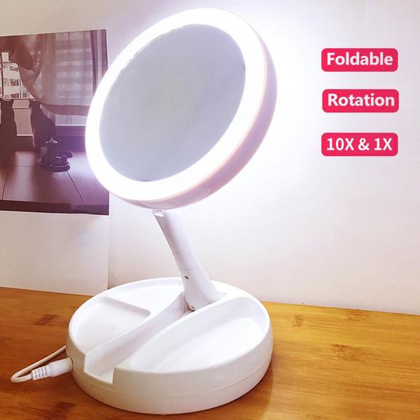 Yeni Yüksek Kaliteli Tv Ürünleri Led Katlanır Makyaj Aynası