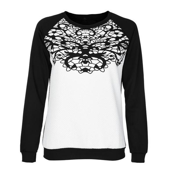 Women T-shirts Nice Summer Fashion Long Sleeve O Neck Sweatshirt Printed Causal Tops Tshirt Cotton Blend Autumn