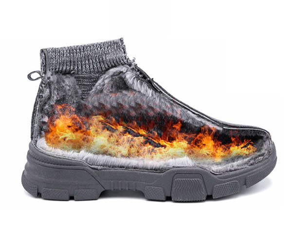 Men Casual Shoes Breathable Sneakers Men Boots Decoration Cushion Mesh Shoe Cold protection Hard-Wearing Shoes Zapatillas Hombre
