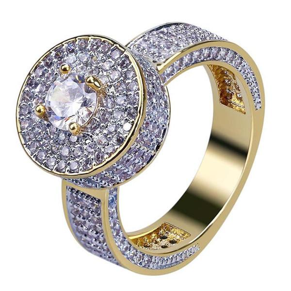 Designer de moda Anéis Clássicos Homens e Mulheres de Design de Luxo 18 K Banhado A Ouro Completa Anel de Diamante Moda Jóias Presente Do Amante Do Noivado