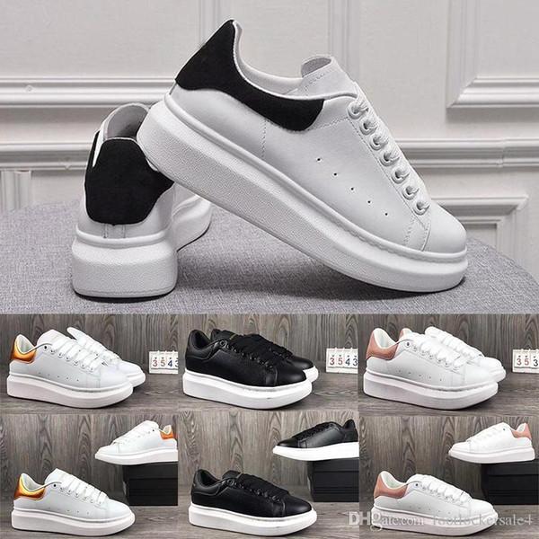 Mqueen stan smith tênis de corrida das mulheres dos homens lace up designer de conforto bonito casual sapatos de couro extremamente durável estabilidade sports sneakers