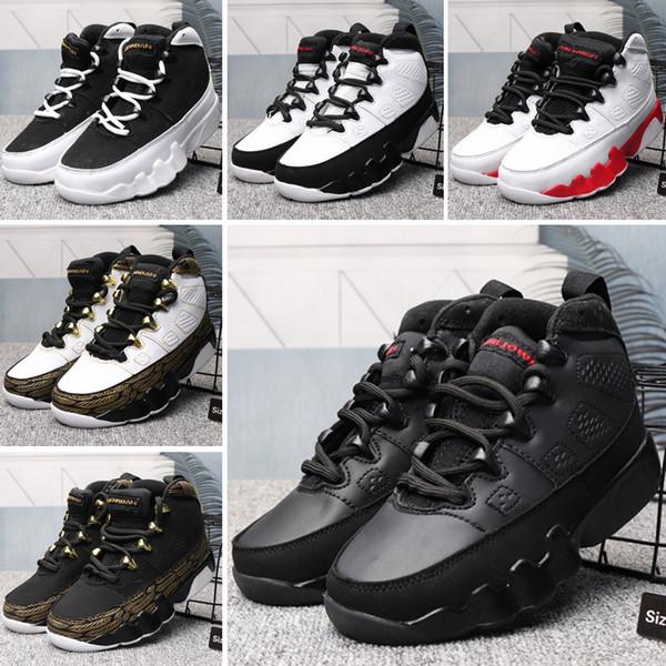 Nike Air Jordan 9 AJ9 K001 Crianças Mens 1 4 9 11 12 14 Tênis de basquete Bumblebee Amarelo Preto Pack Tênis de grife Cestas 11s 5s des Chaussures Schuhe