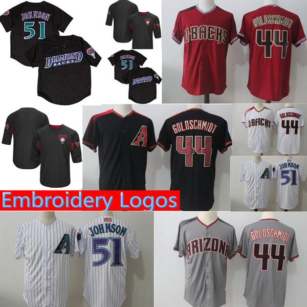 more photos f93a2 3f330 2019 Arizona Diamondbacks Jersey 44 Paul Goldschmidt 51 Randy Johnson  Jersey Cheap Sales Men'S Stitched Embroidery Baseball Jerseys From  Xmm_jerseys, ...