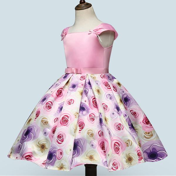 Compre Moda Para Niñas Y Vestidos De Princesa Impresos Sencillos Vestidos Para Niñas De Proveedores Chinos A 1053 Del Dailyrise Dhgatecom