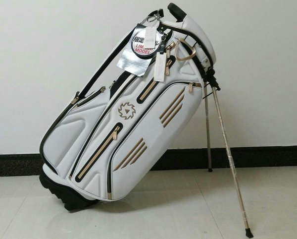 "best selling golf stand bag new style Ti 7VW PU Golf stand Bags 9"" in white OEM available"