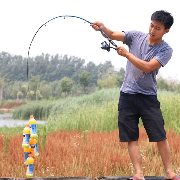 1-2.3m short hard travel fishing rod spinning rods boat rock stream stick shrimp pole bass carp rod thumbnail
