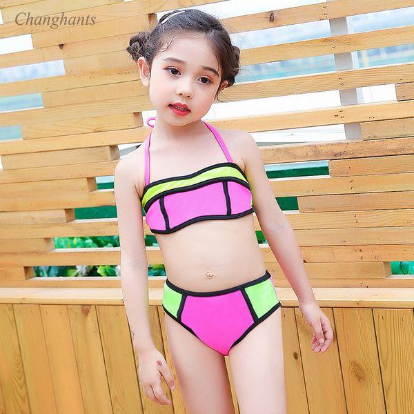 online retailer undefeated x new items 2019 2019 New Model Baby Girl Bikini Set Pink & Green Patchwork Girls Two  Piece Swimwear Kid Swimsuit Children Swim Wear Bathing Suit From Xiatian7,  ...