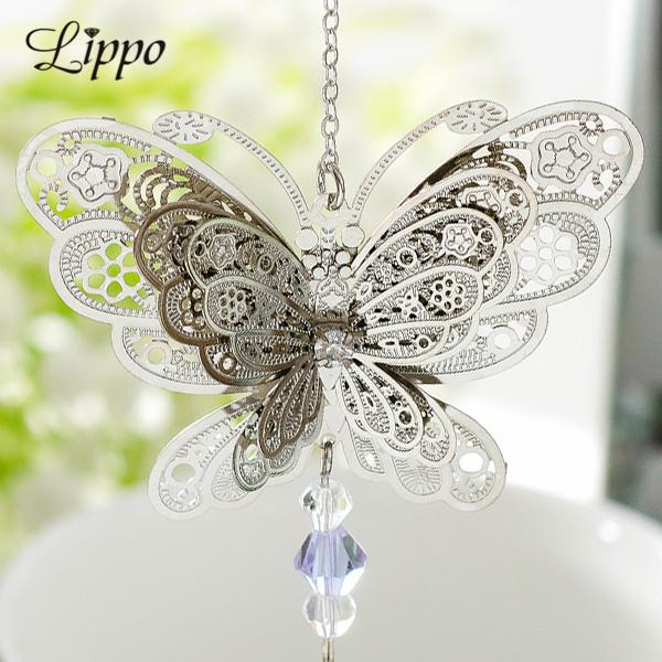 Accessories Jewelry Findings Components 10pcs Filigree 3D Butterfly Charms Brass Pendants Connector Embellishments Slice Jewelry Findings...