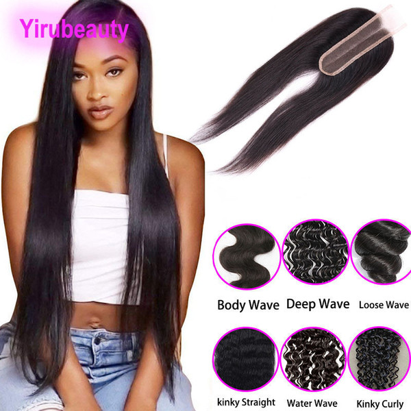 Malaysian Virgin Hair Lace Closure 2X6 Lace Closure Middle Part Kinky Curly Straight Human Hair Deep Wave Body Wave 8-20inch