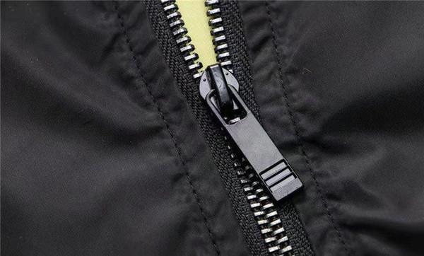 NUOVO 2018 Autunno sottile Uomini abbigliamento sportivo in tessuto impermeabile giacca di alta qualità Uomini giacca sportiva rivestimento della chiusura lampo di moda