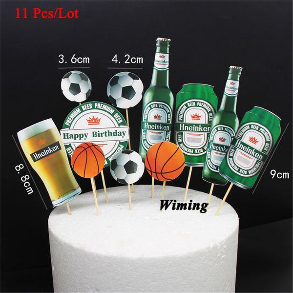 Compre Decoraciones Para Fiestas De Cumpleaños Niños Bebé Artículos Para Fiestas Banderas Para Pasteles Decoración De Pasteles Fútbol Baloncesto