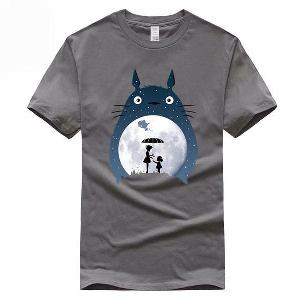 Хаяо Миядзаки, Тоторо Евро Размер 100% хлопок футболка Лето Повседневная футболка с коротким рукавом с коротким рукавом для мужчин и женщин Gmt047