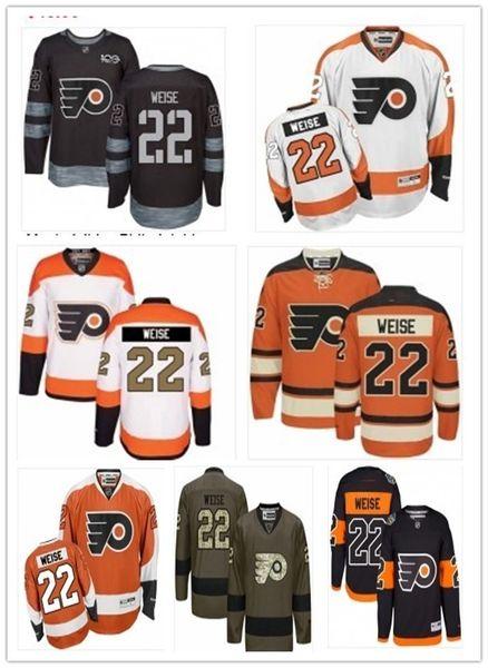 2019 Custom Any Name Number Philadelphia Hockey Jersey Green 22 Dale Weise Men/WOMEN/ YOUTH Flyer Game Worn Hockey Jersey Shirt