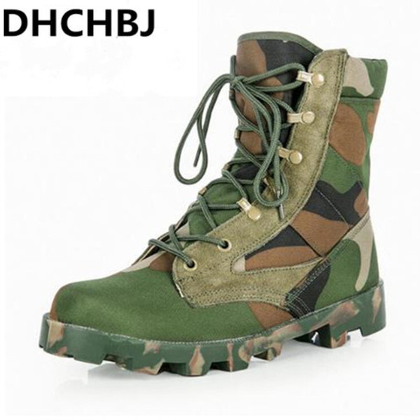 2019 new handsome breathable tactical men boots army combat camouflage boots size 39--46 thumbnail