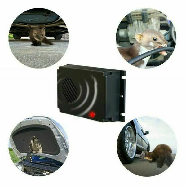Polyvalent et durable pour véhicules à ultrasons Repeller Pest Rat Souris Alimentation par batterie Rongeur Dissuasion Engine soins
